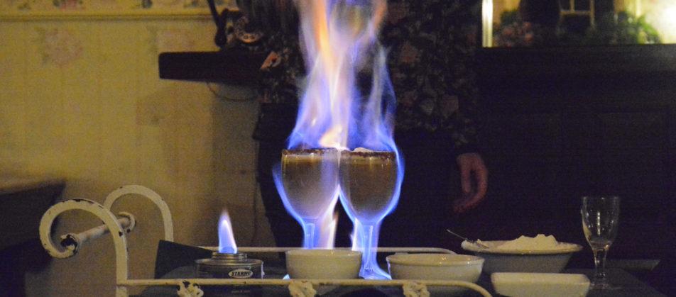 Flaming-coffee